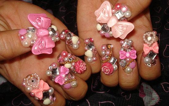 Как сделать дизайна на нарощенных ногтях